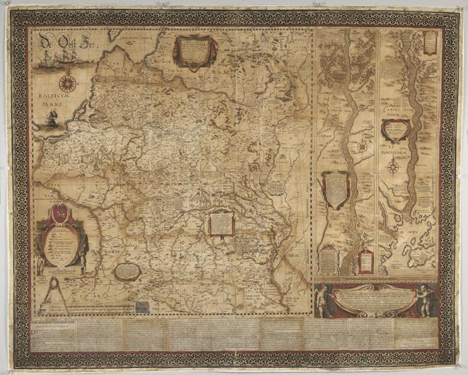 kopia av den konserverade kartan, som nu är ljusare och har mer lysande färger än tidigare