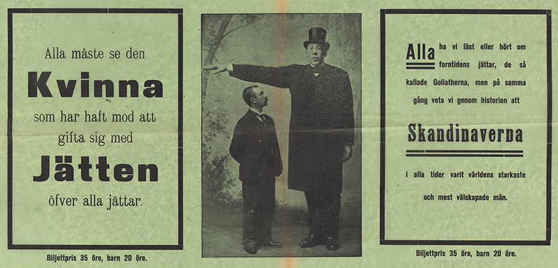 detalj från affischen med närbild på bild på Gustaf Edman