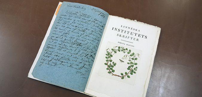 bild på titelbladet till Linnéska institutets skrift