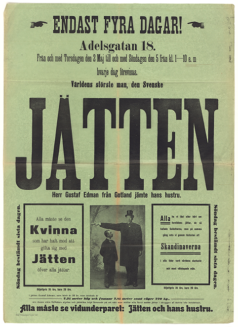 bild på hela affischen, tryckt på grönt papper