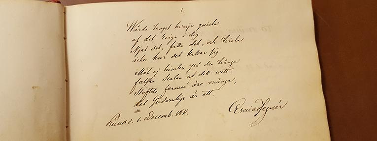 tillskrift av Esaias Tegnér