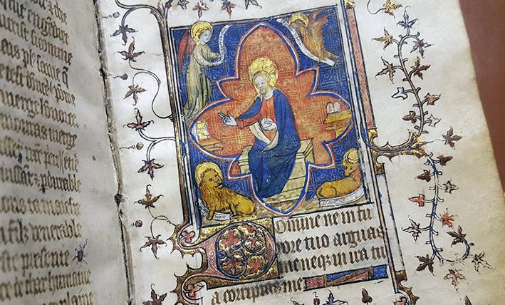 Kristus omgiven av evangelisternas symboler