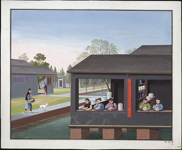 porlinet målas av personer som sitter i ett hus med öppna fönster