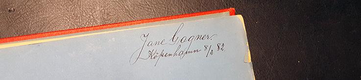 Jane Gagners signatur