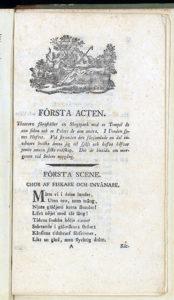 första sodan av det tryckta librettot