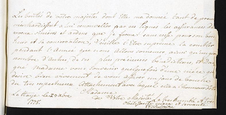 brev undertecknat Wilhelmina, prinsessa av Oranien-Nassau