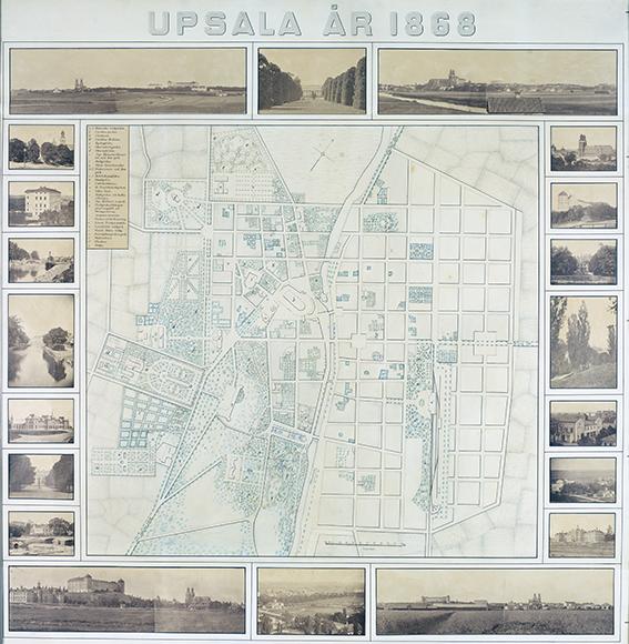 bild av hela kartan med små fotografier sominramning