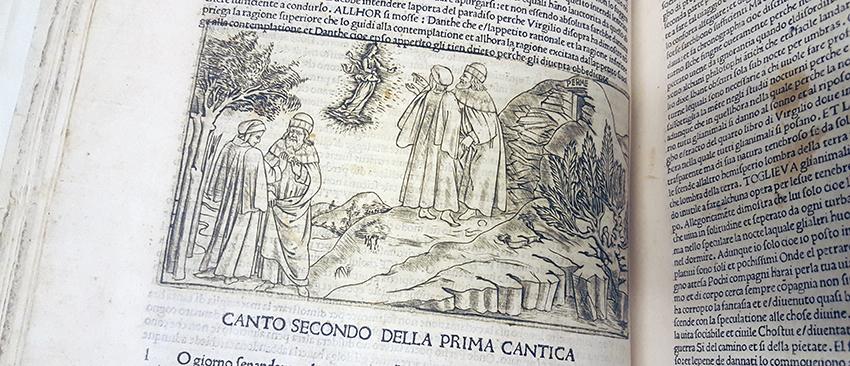 Beatrice uppenbarar sig för Dante