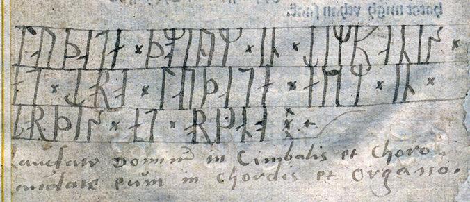 en handskriven runrad