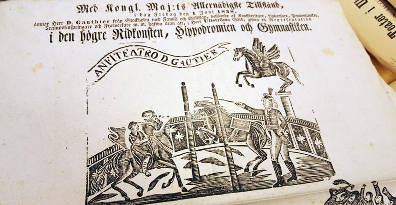 överstycke med affisch med texten Anfiteatro d Gautier