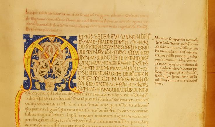 detalj från första sidan i handskriften