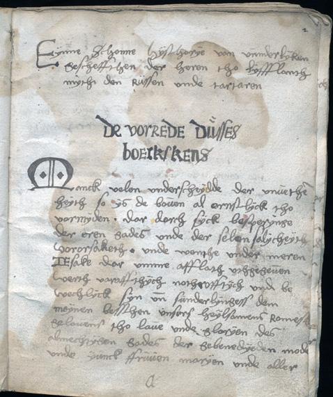en handskriven sida med variant av tysk text
