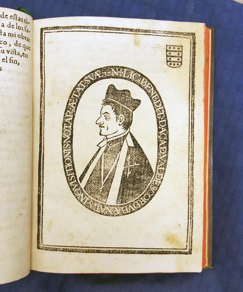 porträtt i träsnitt av Benito Daza de Valdes