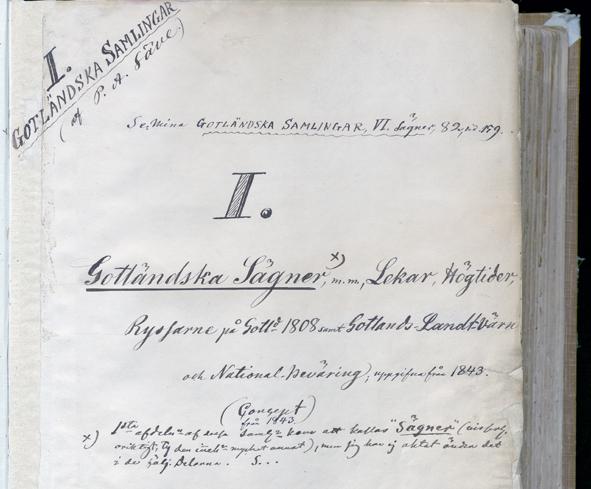 det handskrivna titelbladet i den första volymen