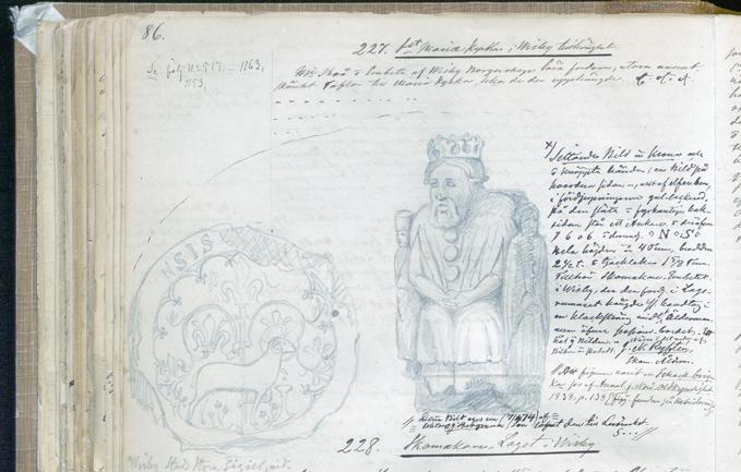 tecknad avbildning av en kung ur ett schackspel, sittande på en tron med krona på huvudet