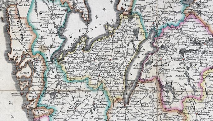 Detalj från kartanöver Skaraborgs län