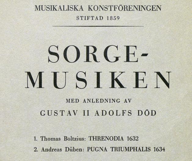 titeln Sorgemusiken... på omslaget