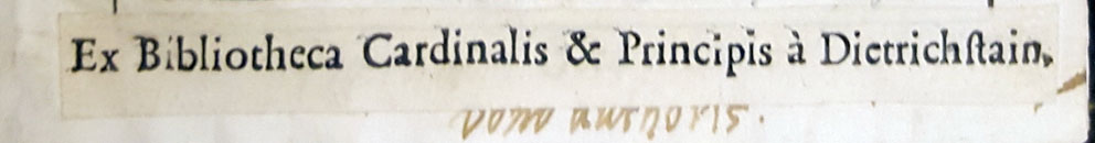 Dietrichsteins lilla tryckta exlibris