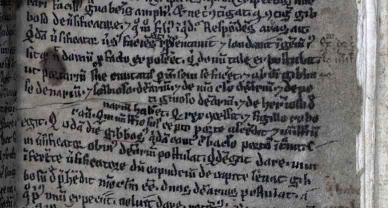 närbild på några krokiga rader präntade i en handskrift