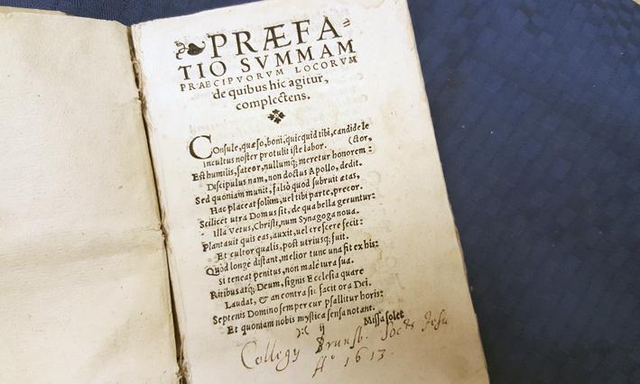 titelbladet med anteckning om Braniewo jesuitkollegium