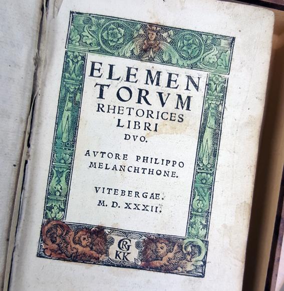 bild på titelsidan av melanchthons bok