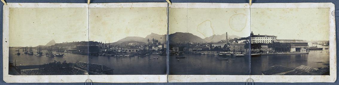 svartvitt foto över hamnen i Rio de Janeiro
