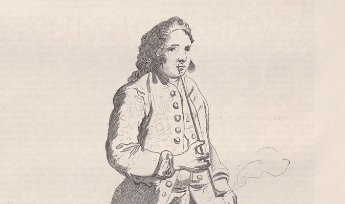 övre hälften av Linnés kropp hämtad från en tidningsbild