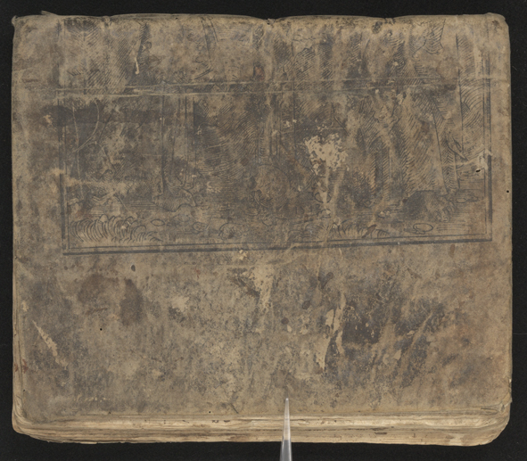 baksidan av pärmen visar underdelen av korsfästelsen