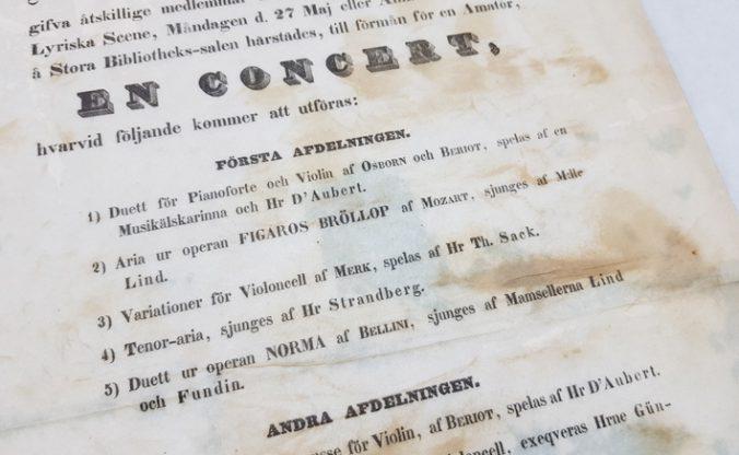 detalj från en konsertaffisch