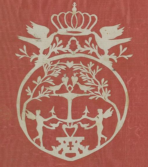 vitt pappersklipp mot röd bakgrund