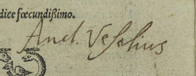 Vesalius namnteckning