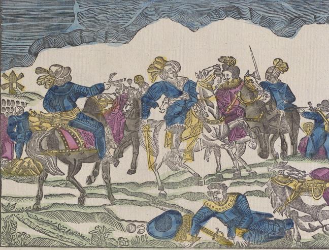 kungen sitter till häst och blir skjuten med pistol på nära håll