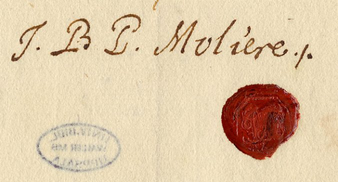 namnteckning över ett rött sigill